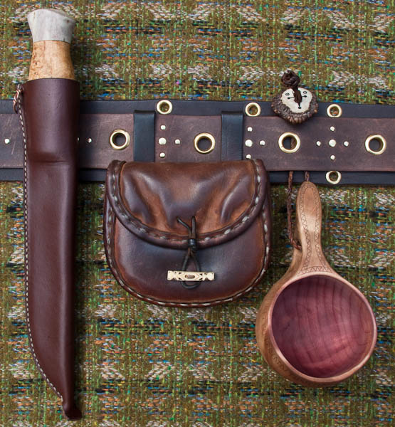 Saami inspired belt and equipment